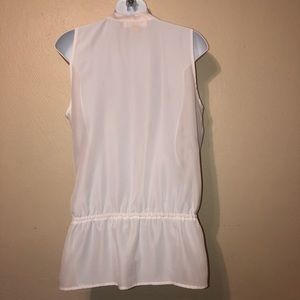 Michael Kors Tops - Michael Kors white sleeveless wrap shirt M
